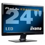 Iiyama ProLite E2473HDS 24 inch Monitor LED-Backlit 1080p TFT 1000:1 300cd/m2 1920 x 1080 2ms D-Sub/